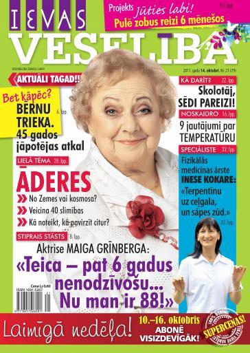 IEVAS VESELĪBA Nr. 21 2011