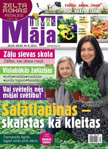 IEVAS MĀJA Nr. 8 2013