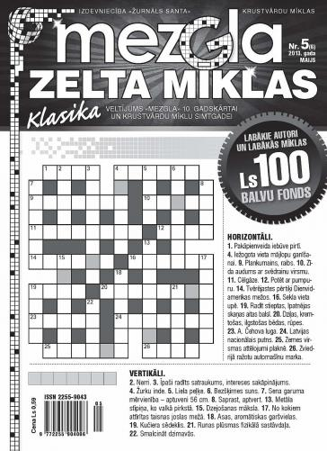MEZGLA ZELTA MĪKLAS Nr. 5 2013