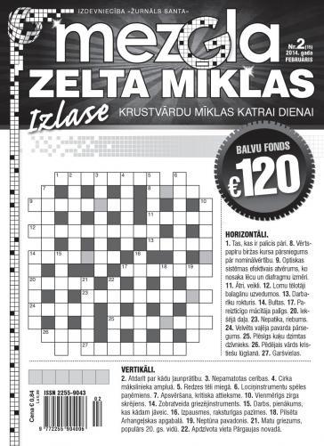 MEZGLA ZELTA MĪKLAS Nr. 2 2014