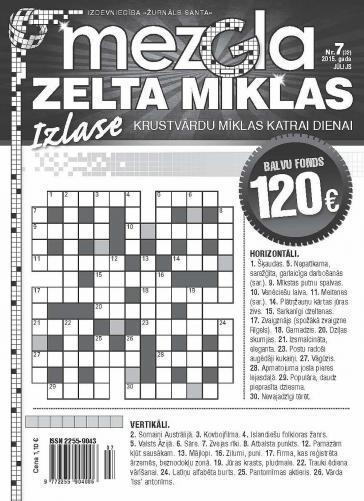 MEZGLA ZELTA MĪKLAS Nr. 7 2015
