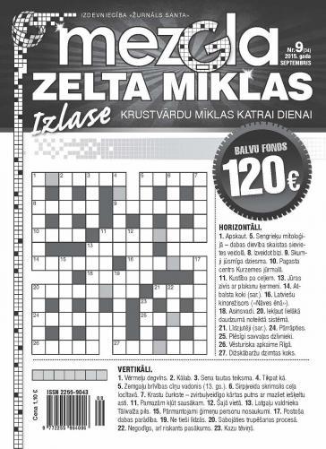 MEZGLA ZELTA MĪKLAS Nr. 9 2015