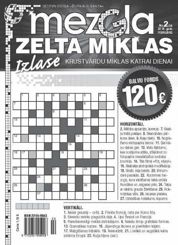 MEZGLA ZELTA MĪKLAS Nr. 2 2016