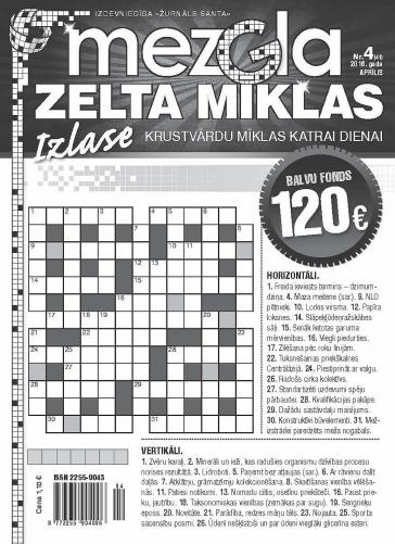 MEZGLA ZELTA MĪKLAS Nr. 4 2016