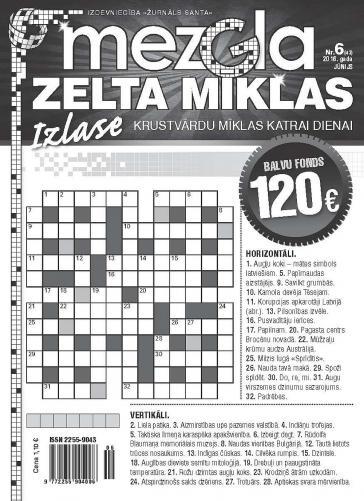 MEZGLA ZELTA MĪKLAS Nr. 6 2016