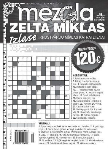 MEZGLA ZELTA MĪKLAS Nr. 9 2016