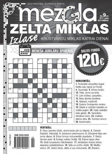 MEZGLA ZELTA MĪKLAS Nr. 9 2017
