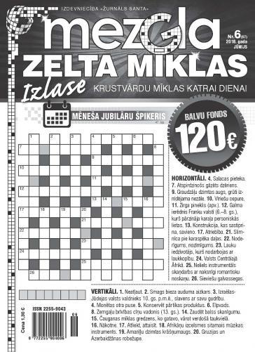 MEZGLA ZELTA MĪKLAS Nr. 6 2018