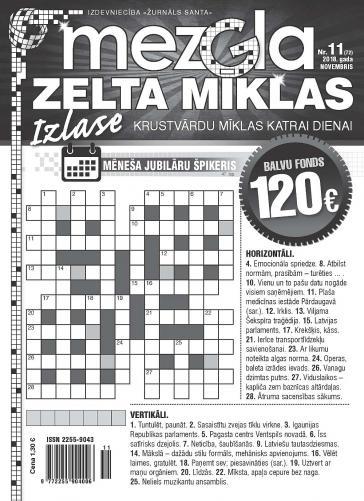MEZGLA ZELTA MĪKLAS Nr. 11 2018