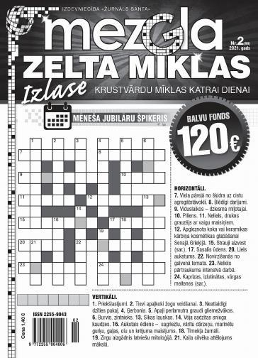 MEZGLA ZELTA MĪKLAS Nr. 2 2021