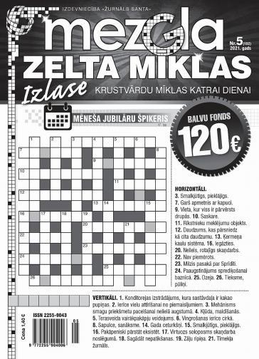 MEZGLA ZELTA MĪKLAS Nr. 5 2021