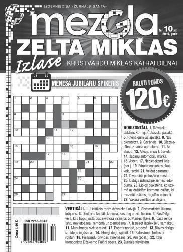 MEZGLA ZELTA MĪKLAS Nr. 10 2019