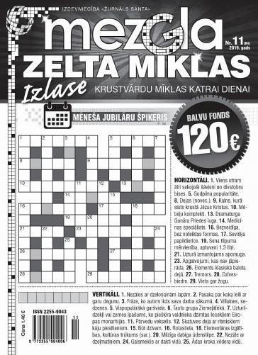 MEZGLA ZELTA MĪKLAS Nr. 11 2019