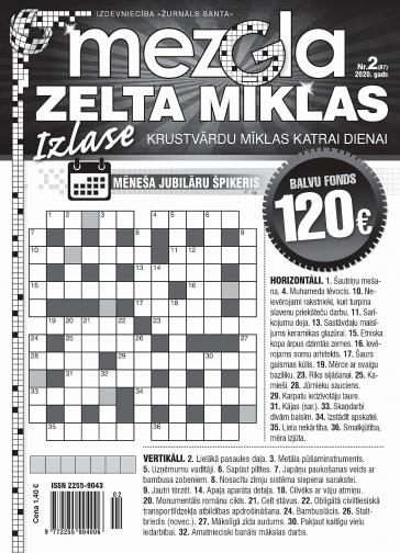 MEZGLA ZELTA MĪKLAS Nr. 2 2020
