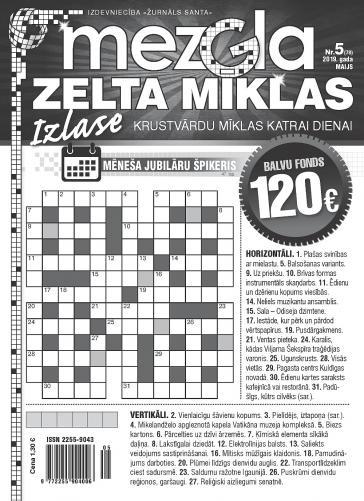 MEZGLA ZELTA MĪKLAS Nr. 5 2019