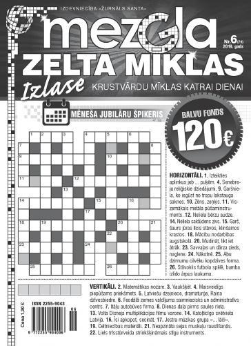 MEZGLA ZELTA MĪKLAS Nr. 6 2019