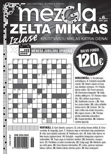 MEZGLA ZELTA MĪKLAS Nr. 6 2020