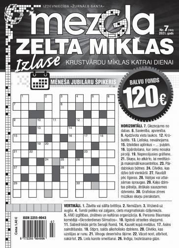 MEZGLA ZELTA MĪKLAS Nr. 7 2021