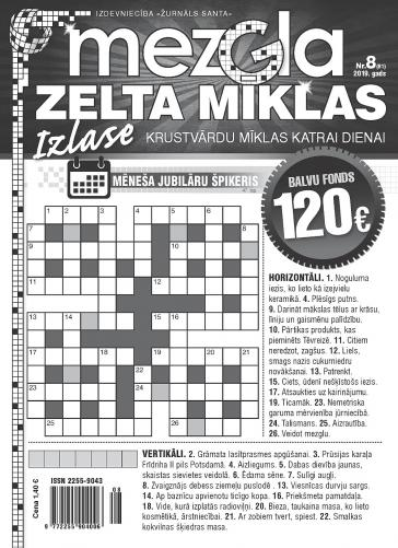 MEZGLA ZELTA MĪKLAS Nr. 8 2019