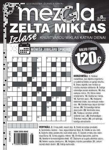 MEZGLA ZELTA MĪKLAS Nr. 8 2020