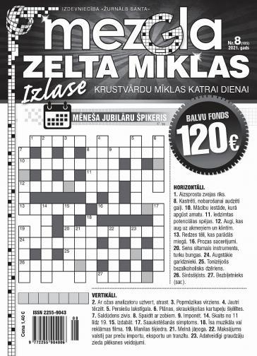 MEZGLA ZELTA MĪKLAS Nr. 8 2021