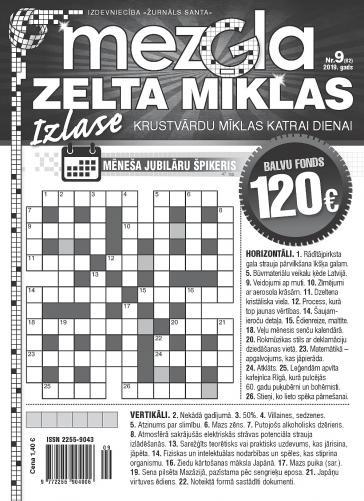 MEZGLA ZELTA MĪKLAS Nr. 9 2019