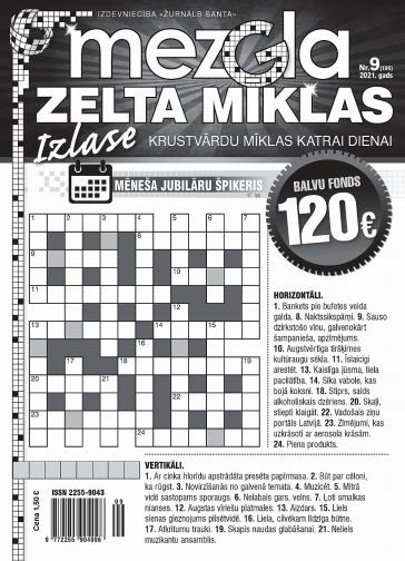 MEZGLA ZELTA MĪKLAS Nr. 9 2021