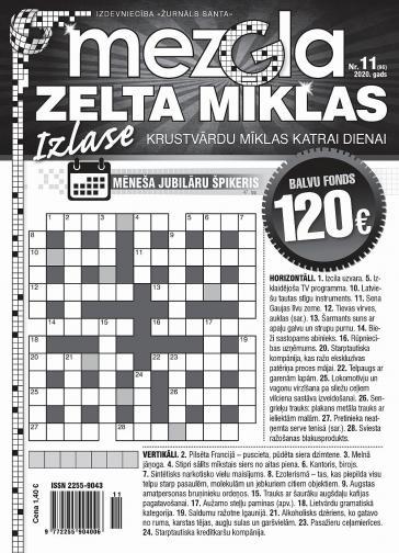 MEZGLA ZELTA MĪKLAS Nr. 11 2020
