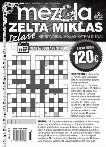 MEZGLA ZELTA MĪKLAS Nr. 2 2019