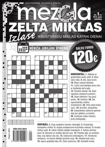 MEZGLA ZELTA MĪKLAS Nr. 1 2019
